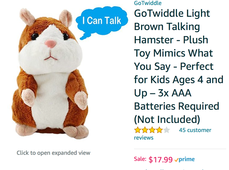 A talking hamster