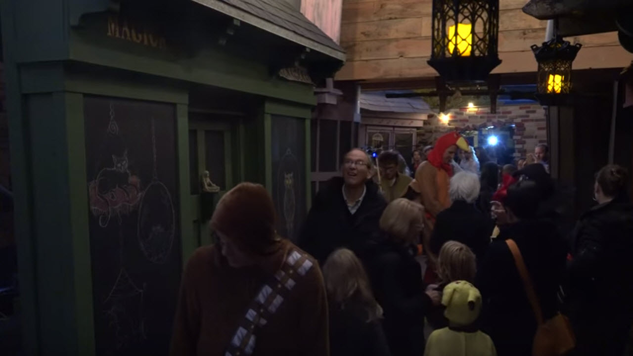 Dad Recreates Harry Potter's Diagon Alley For Daughters