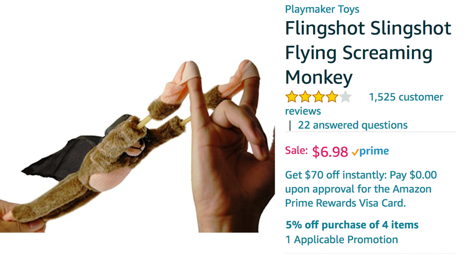 Slingshot screaming monkey
