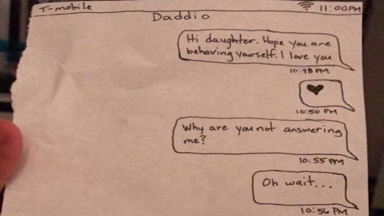 Dad Confiscates Daughters Phone Then Trolls Her With Handwritten Texts