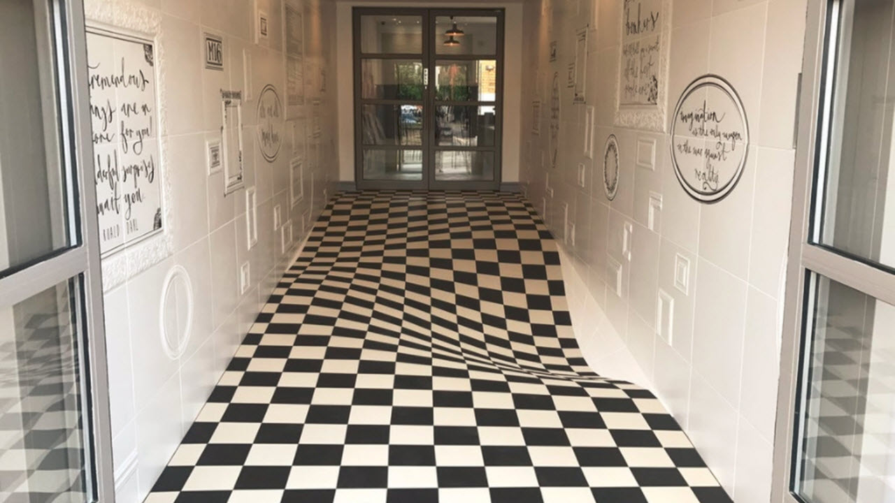 The Floor Is Not Lava. But It IS An Optical Illusion.