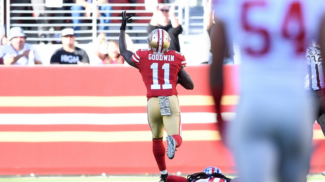 49ers Marquise Goodwin Breaks Down After Scoring Emotional Touchdown