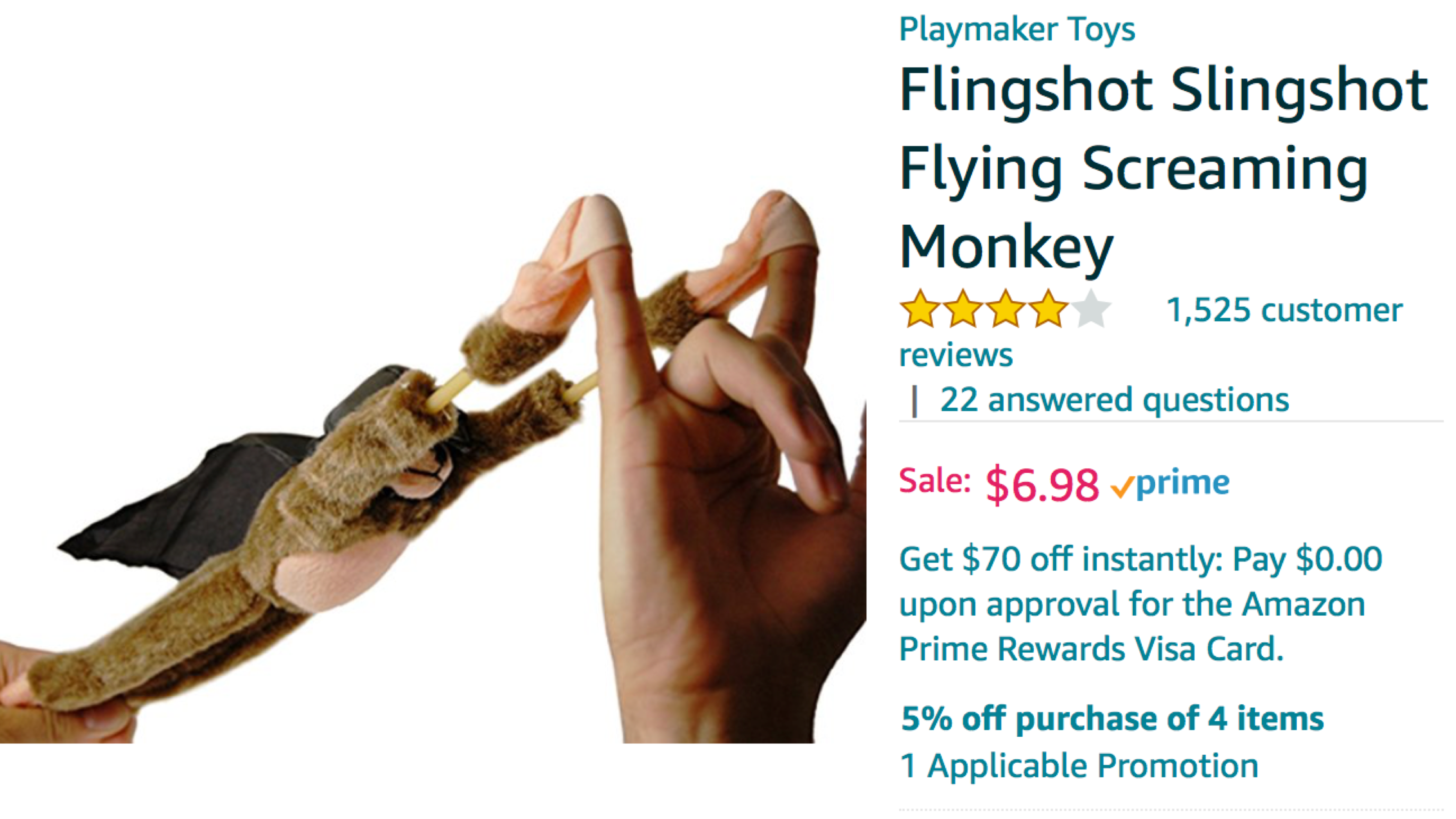 Slingshot Flingshot Flying Screaming Monkey