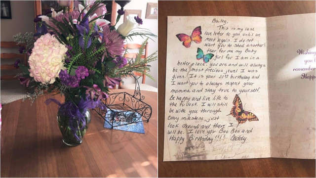 Dad Sends Daughter Flowers For Her 21st Birthday, Five Years After He Passed Away