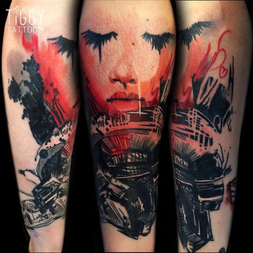 Tiggy Tattoos at  Kamil Tattoo Studio in North London UK