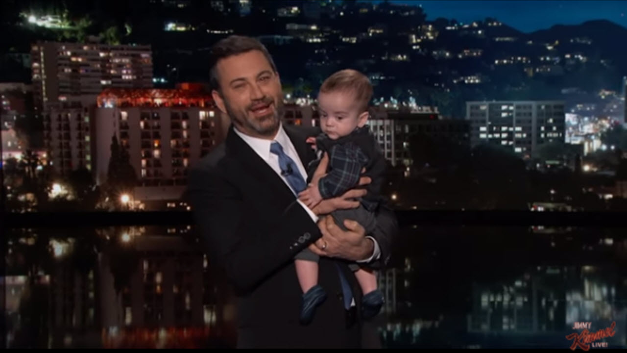 Jimmy Kimmel Shows Off Son Post-Heart Surgery, Gets Emotional About Healthcare