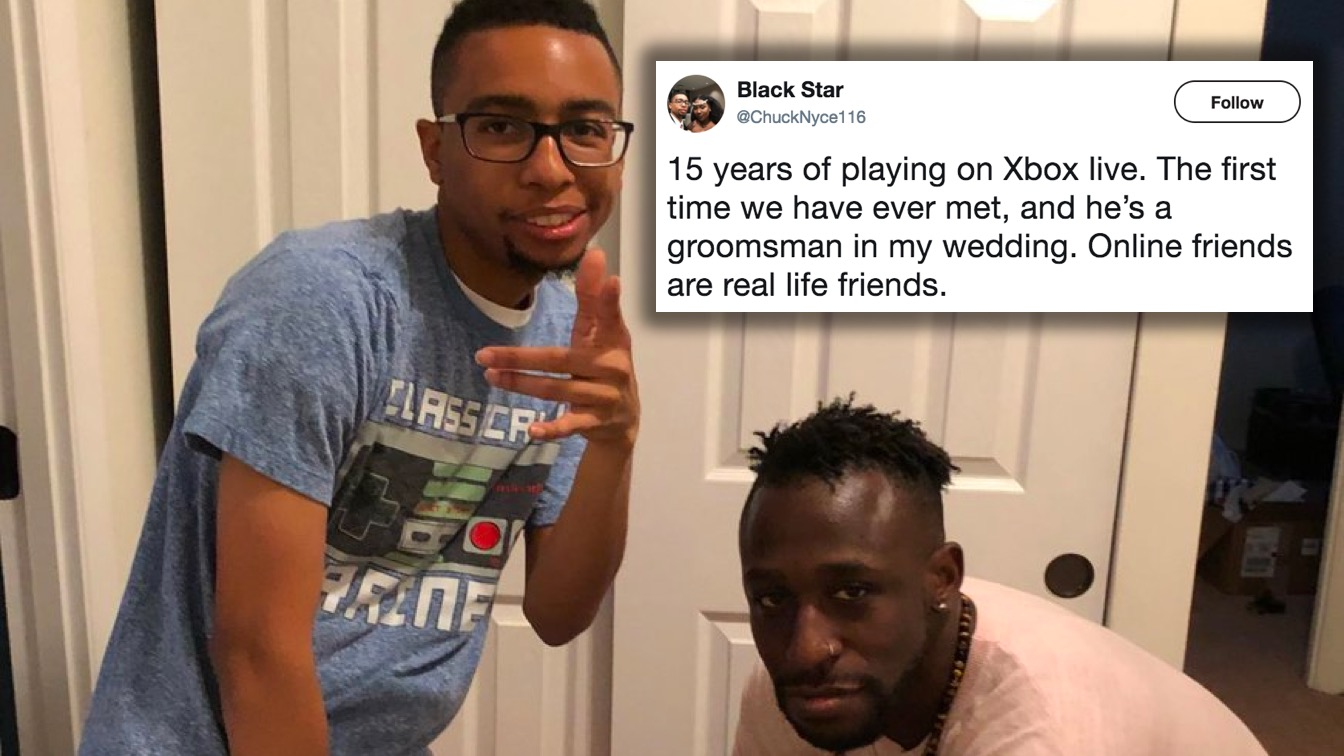 After Gaming Online For Years, Groom Meets Best Man Days Before Wedding
