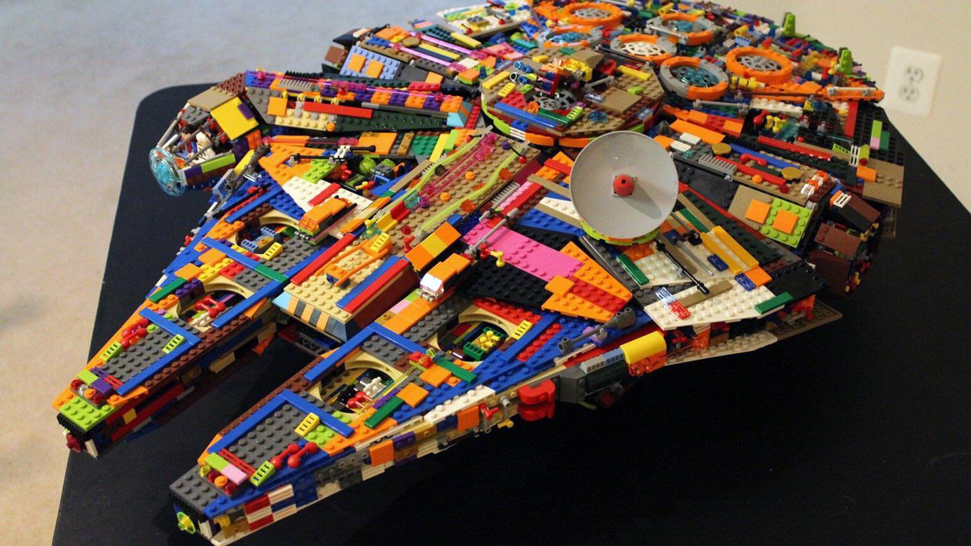 True Artist Builds Gigantic Custom Millennium Falcon Out Of Legos