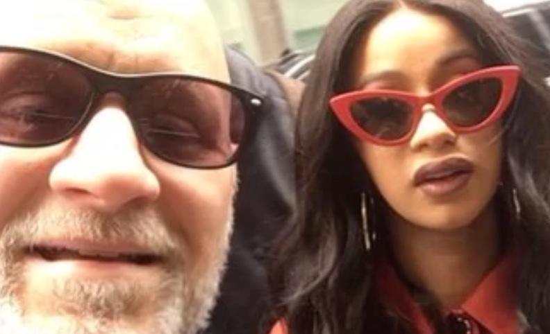 Dad Takes Selfie With Cardi B