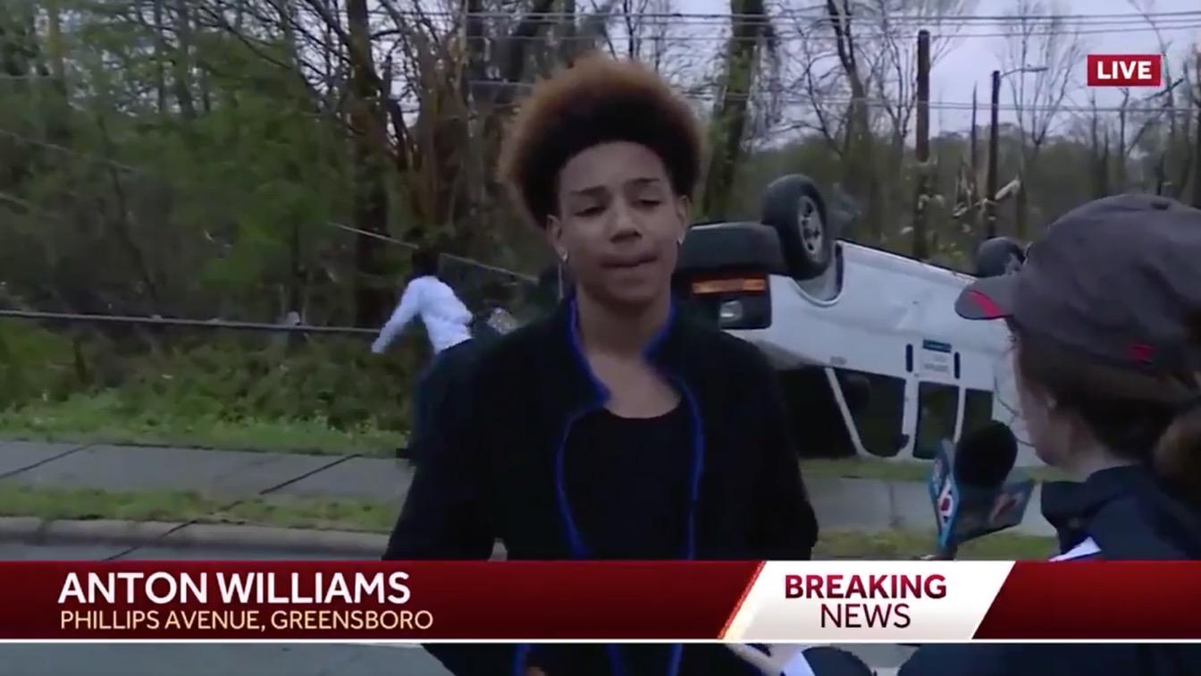 Inspirational Kid Keeps Playing Fortnite During A Tornado