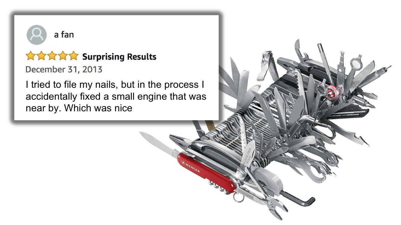 Hilarious Amazon Reviews Of A Giant Swiss Army Knife