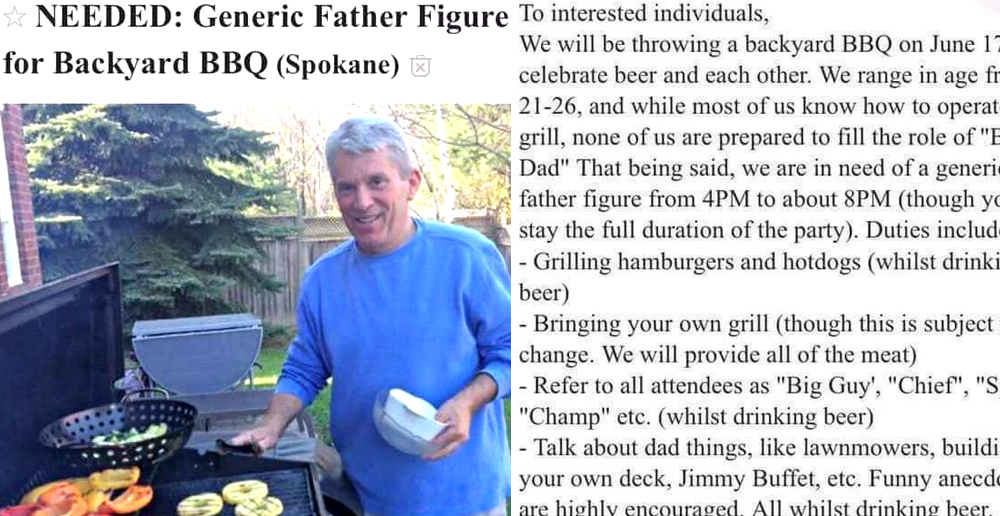Generic Father Wanted for BBQ