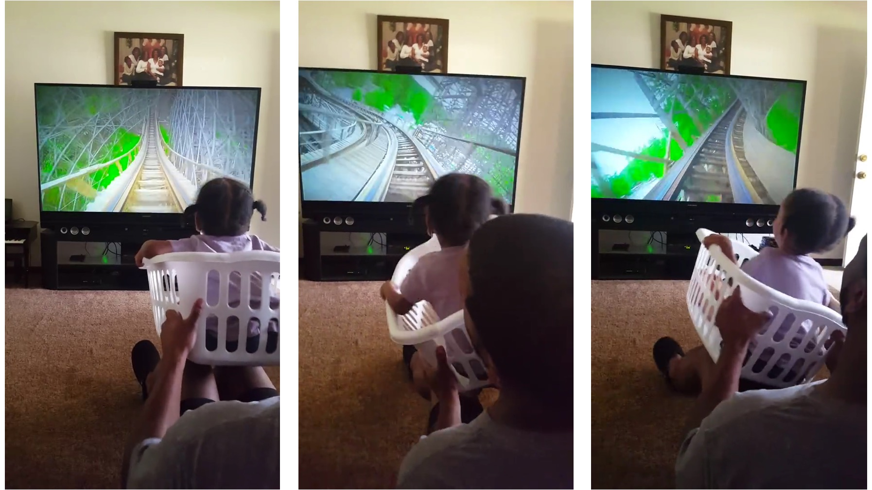 Awesome Dad's Virtual Rollercoaster Results In Adorable Reactions From Daughter