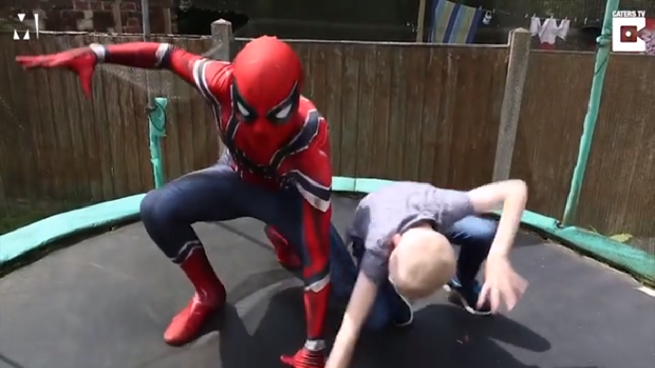 Dad Dresses as Spider-Man to Calm son with Austism
