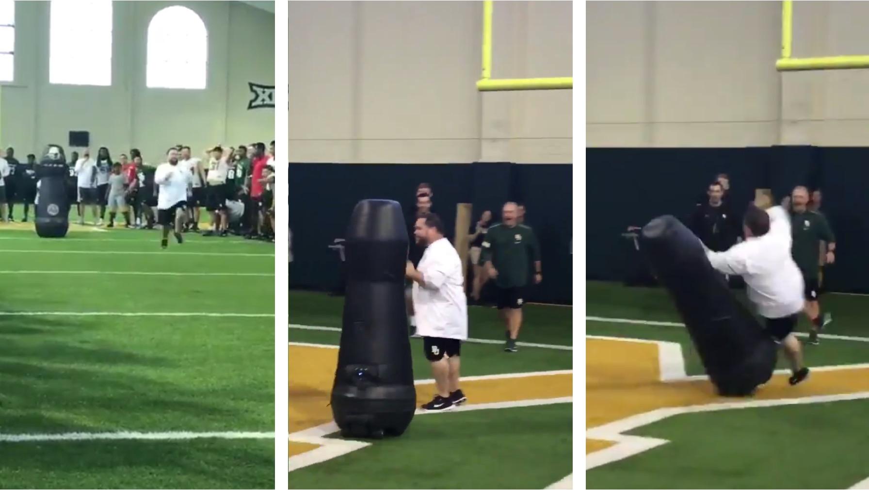 Baylor Athletic Director vs Tackle Robot