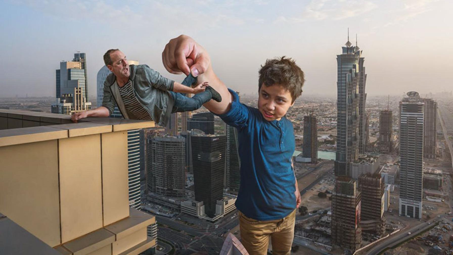 Pro Photographer Dad Photoshops Son Into Epic Scenes