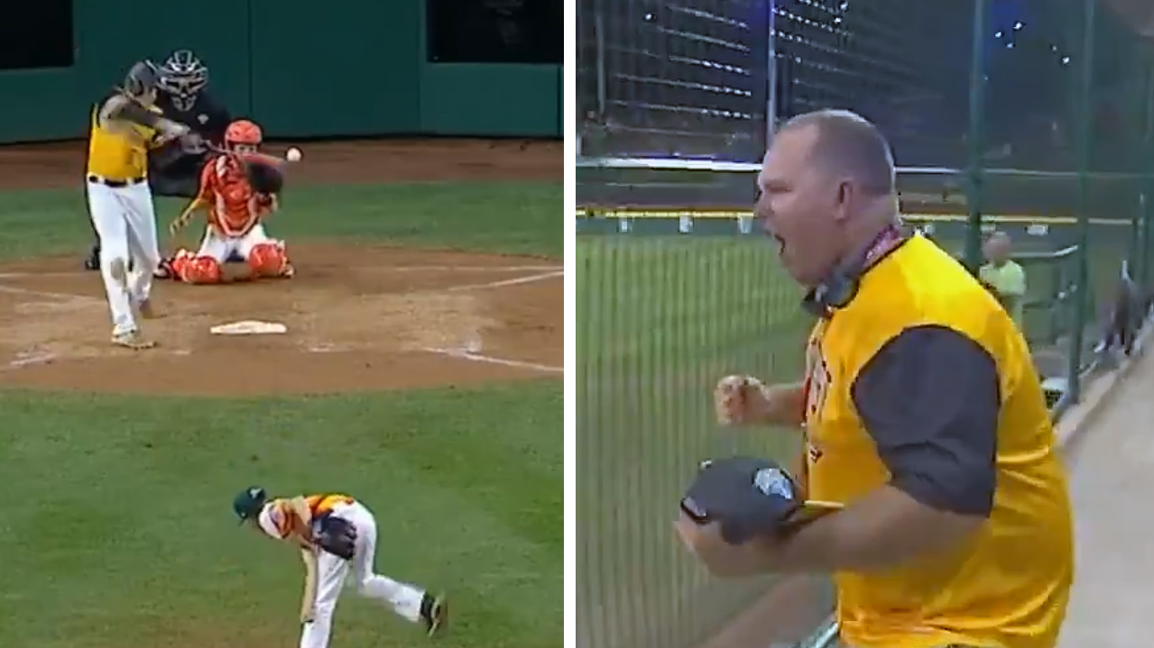 Dad Goes Nuts When Son Hits Game-Tying Homer in Little League World Series