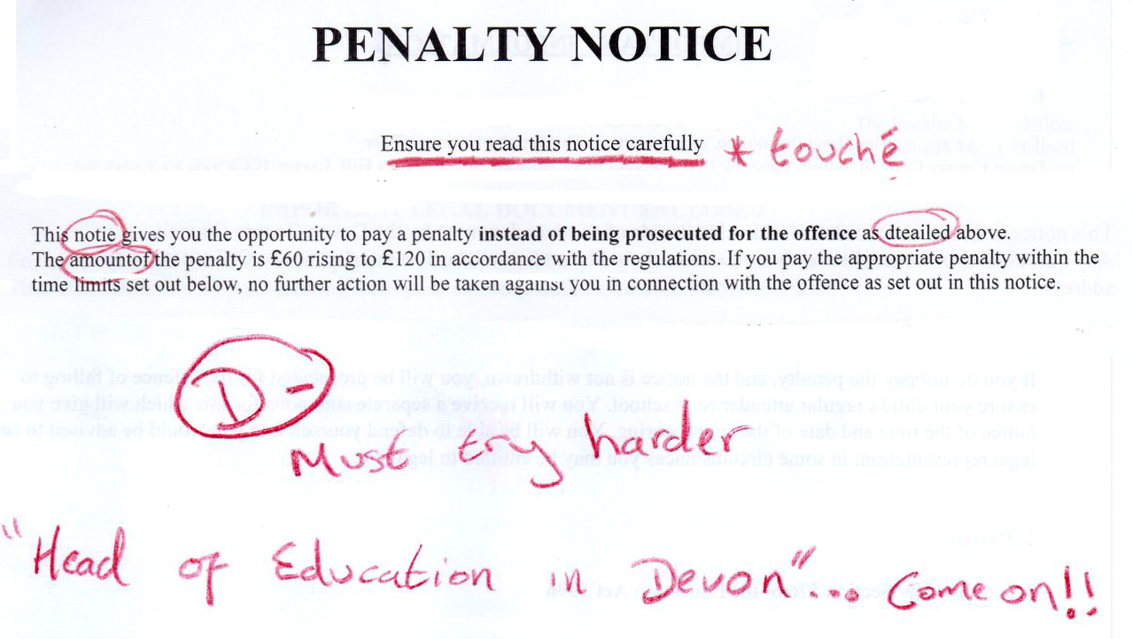 Dad Shames School for Spelling Mistakes in Penalty Letter