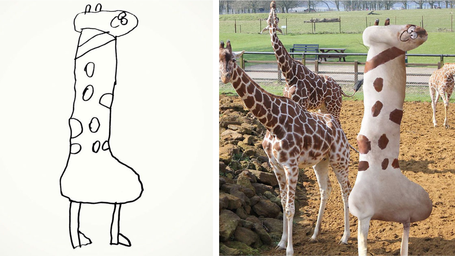 Dad Photoshops Kids' Drawings Into Reality and the Results are Unreal