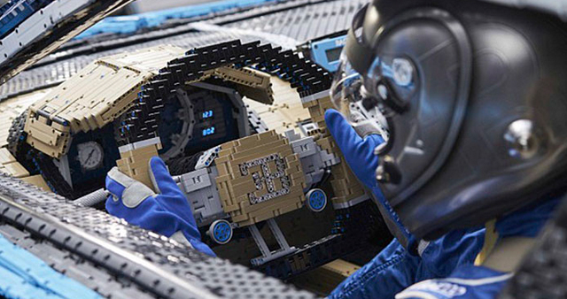 Build a Drivable Bugatti Out of Lego Pieces