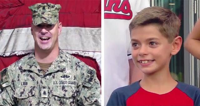 Coast Guard Dad Surprises Son at Cleveland Indians Game