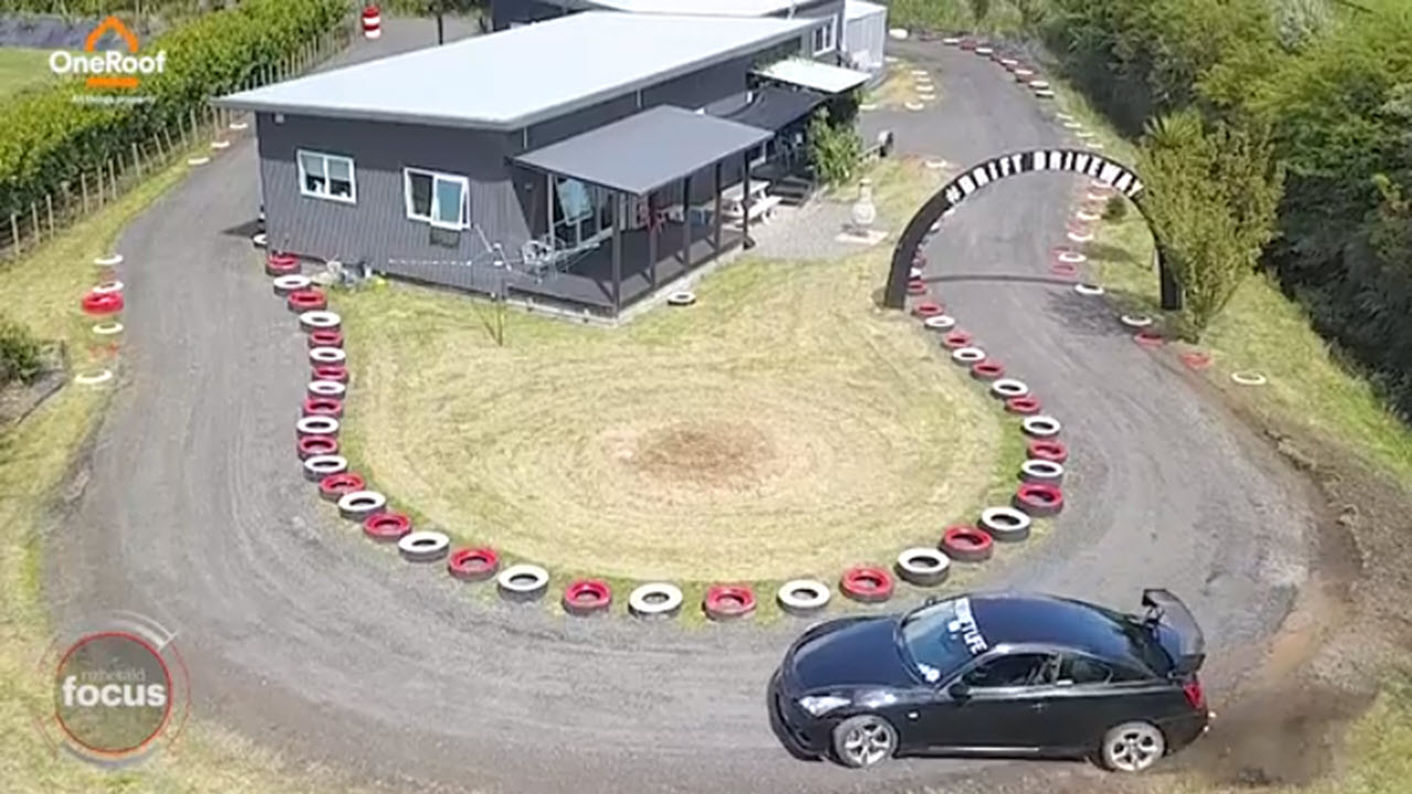 Dad Builds $10k Racetrack Around His House [WATCH]