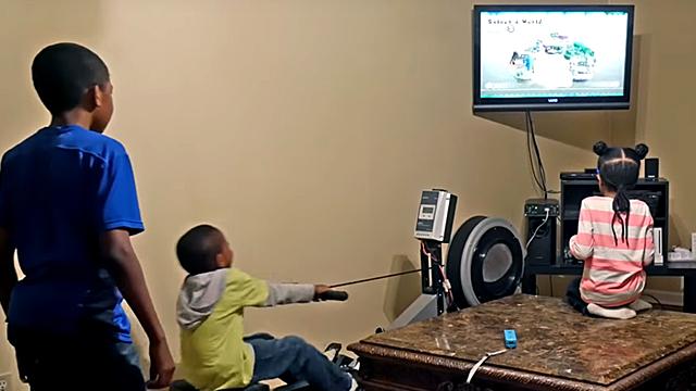 Dad Invents Genius Way to Make Gamer Kids Exercise