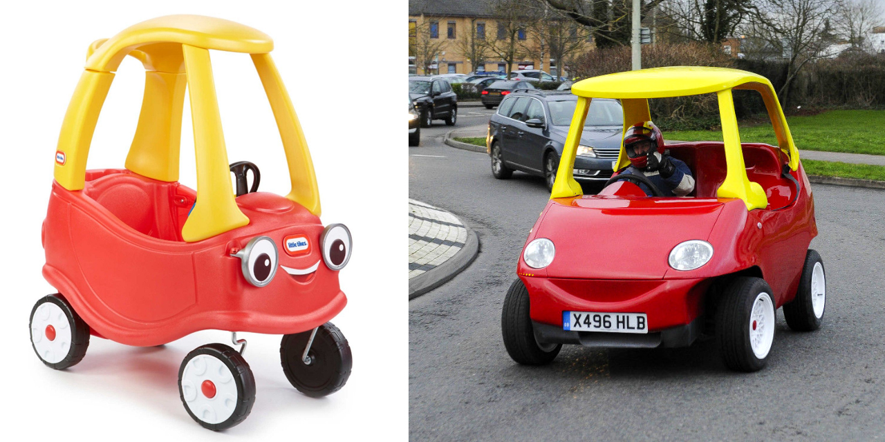 Adult Version of Little Tikes Coupe Goes From 0-60mph in 17 Seconds [WATCH]