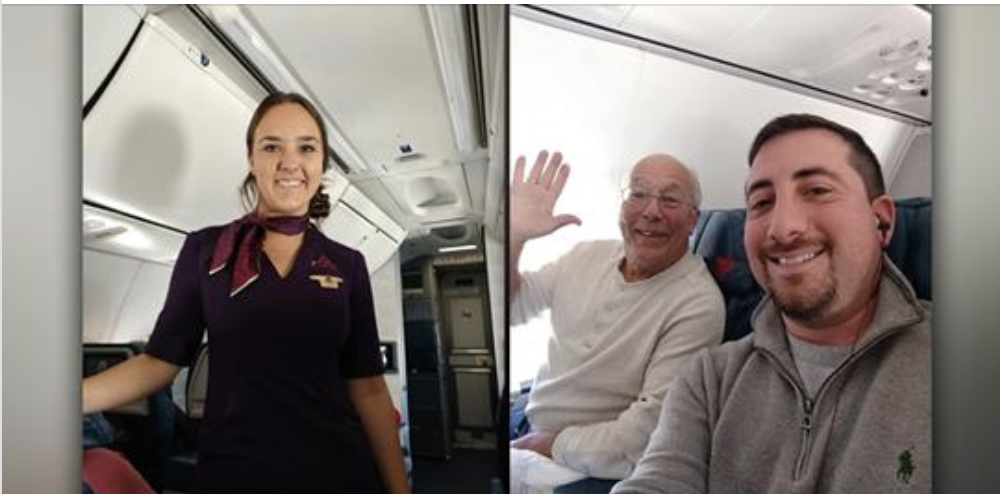 Dad Spends Christmas Airborne to Be With Flight Attendant Daughter