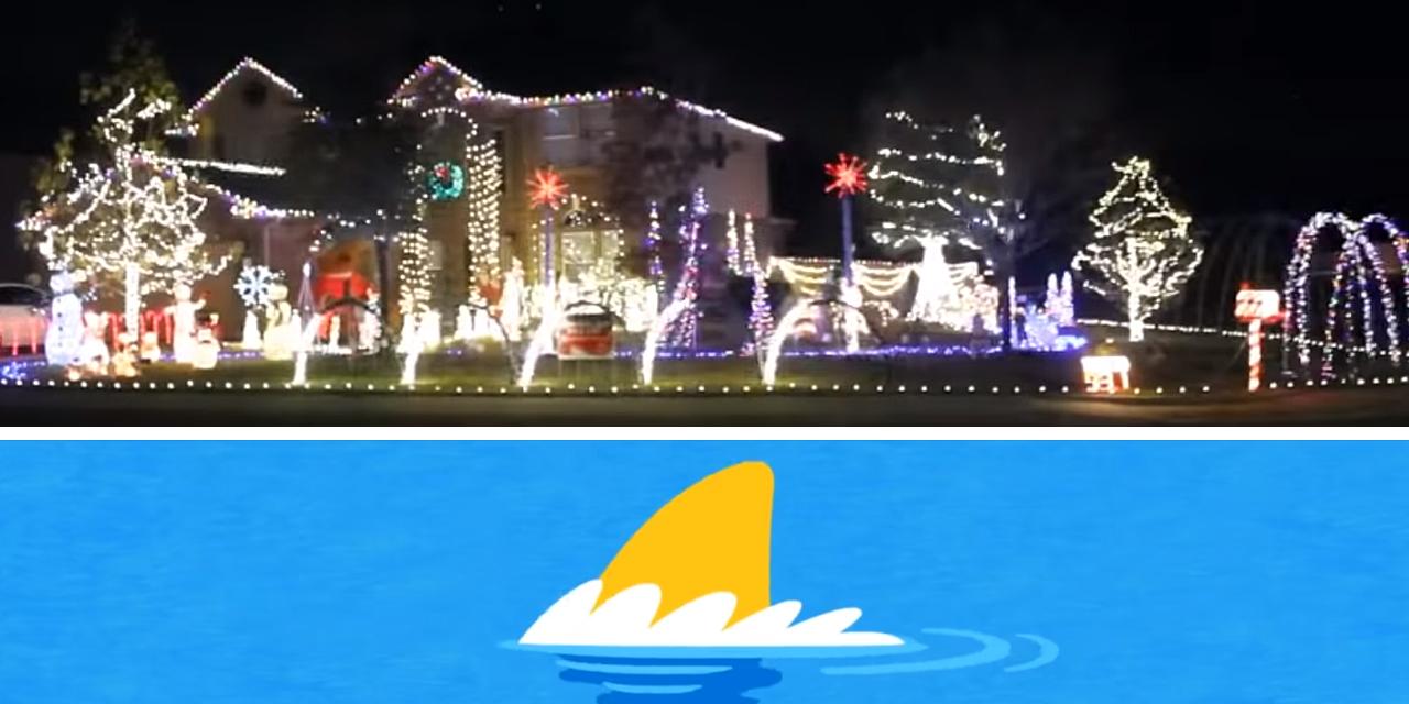 "Family Syncs Elaborate Christmas Light Show to Dreaded ""Baby Shark"""