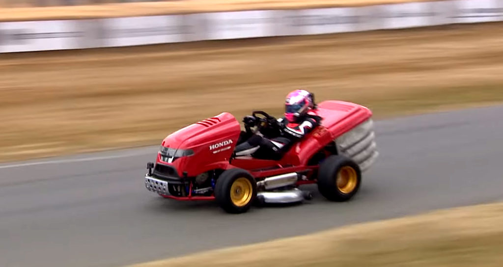 Watch This Honda Lawnmower Go Over 130mph