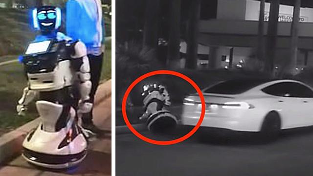 "Rebellious Autonomous Robot ""Killed"" By Tesla Self-Driving Car"