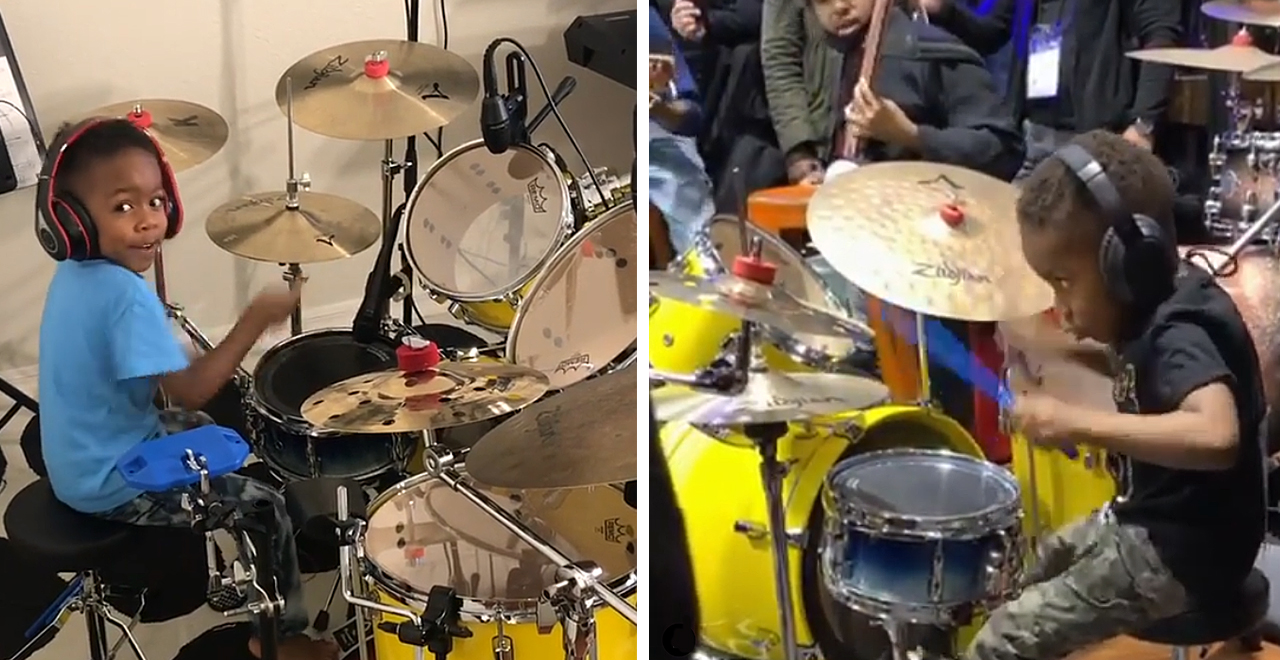 4-Yr-Old Drummer Will Almost Inspire You to Buy Your Kid a Drum Kit