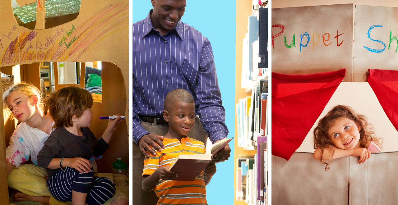 Box forts, libraries and puppet shows