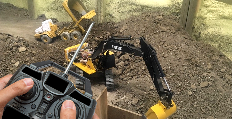 Man Spends 14 Years Excavating Basement With Remote-Controlled Toys