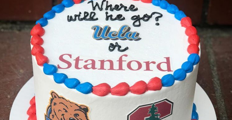 College Reveal Cake
