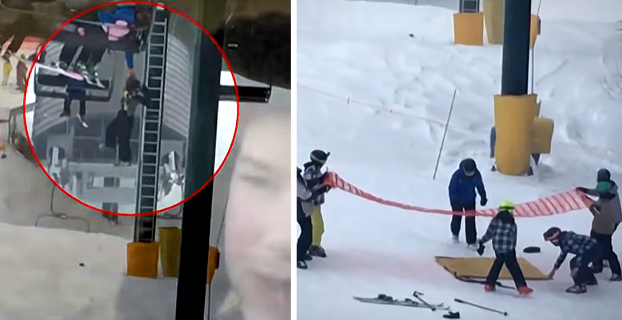 Ski lift rescue