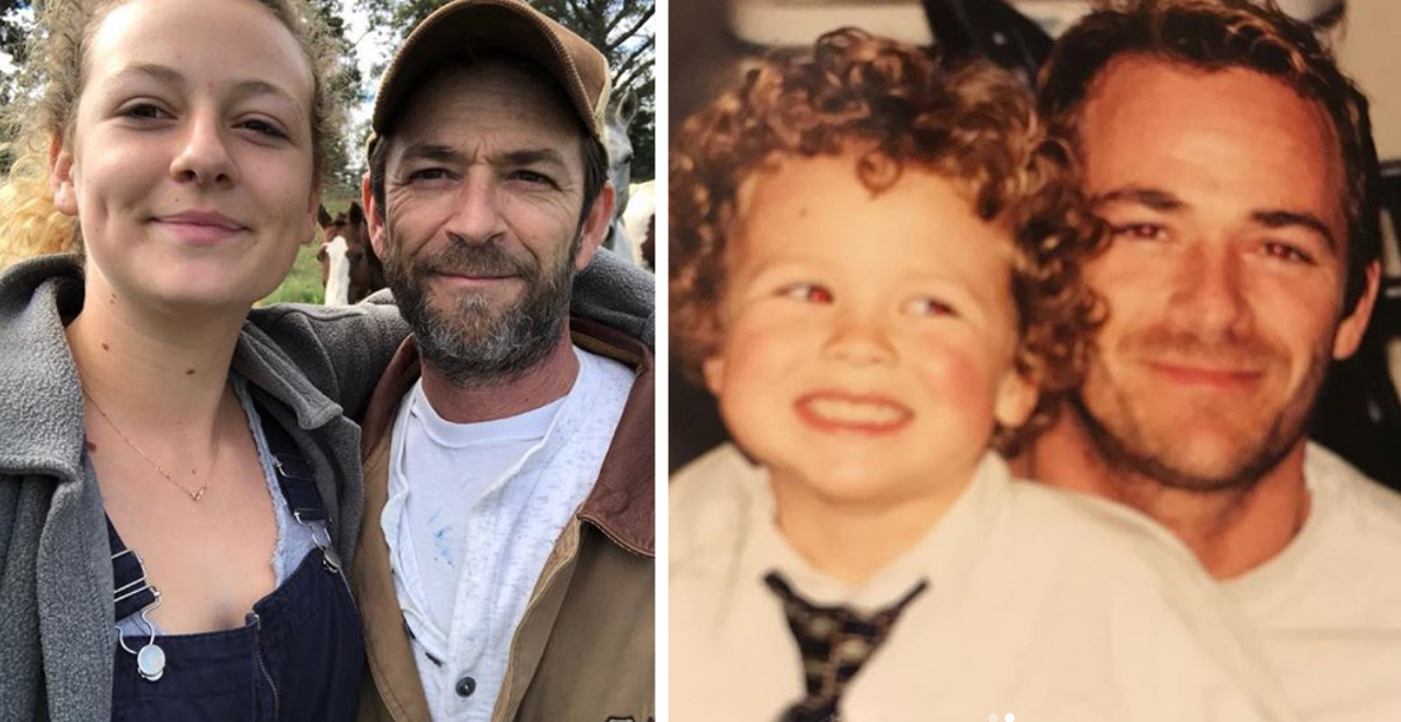 Luke Perry with Sophie and Jack