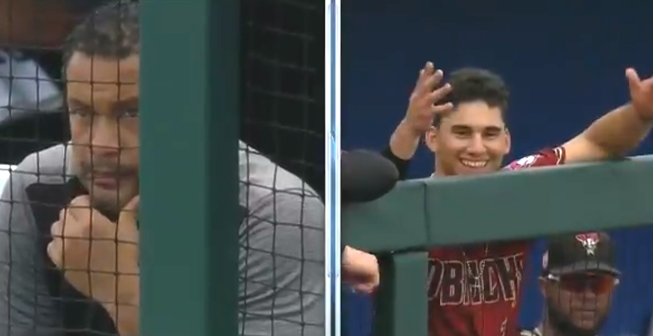 Son homers Against MLB Dad