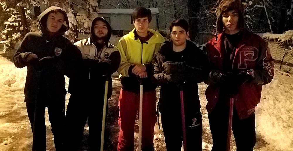 Teens Shovel at 4am