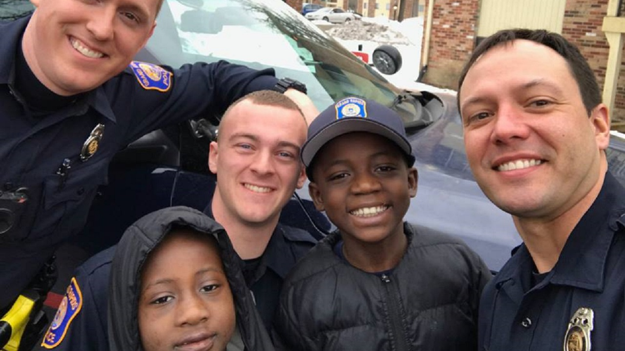 Police Throw Party for 9yo