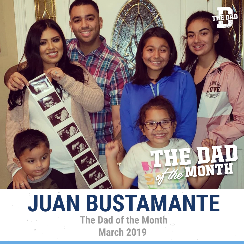 Dad of the Month, March 2019: Juan Bustamante