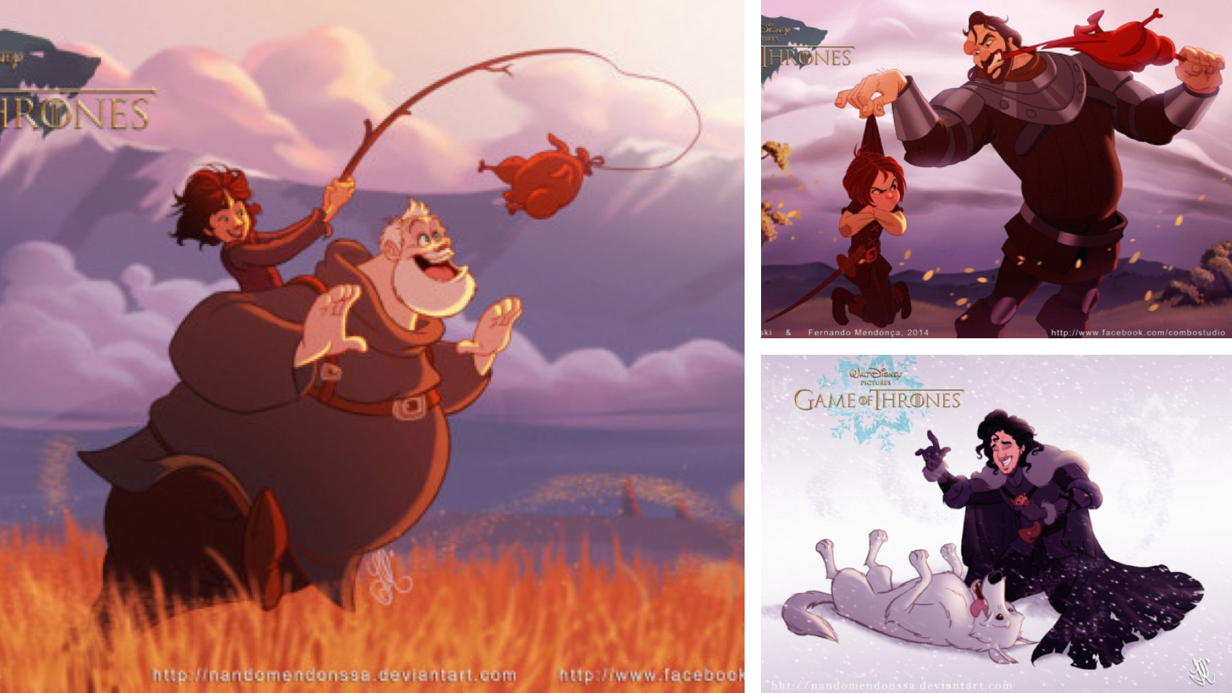 Artists Reimagine 'Game of Thrones' as a Family-Friendly Disney Series