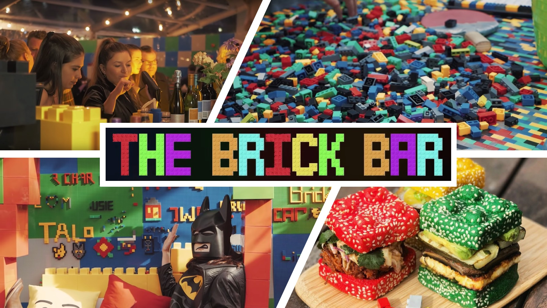 Booze and Build at the LEGO-Inspired Pop-Up Brick Bar [WATCH]