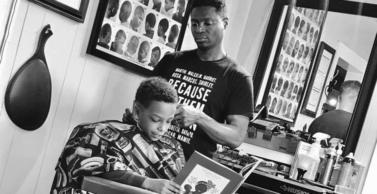 Barber Shop Cuts Prices for Kids who Read