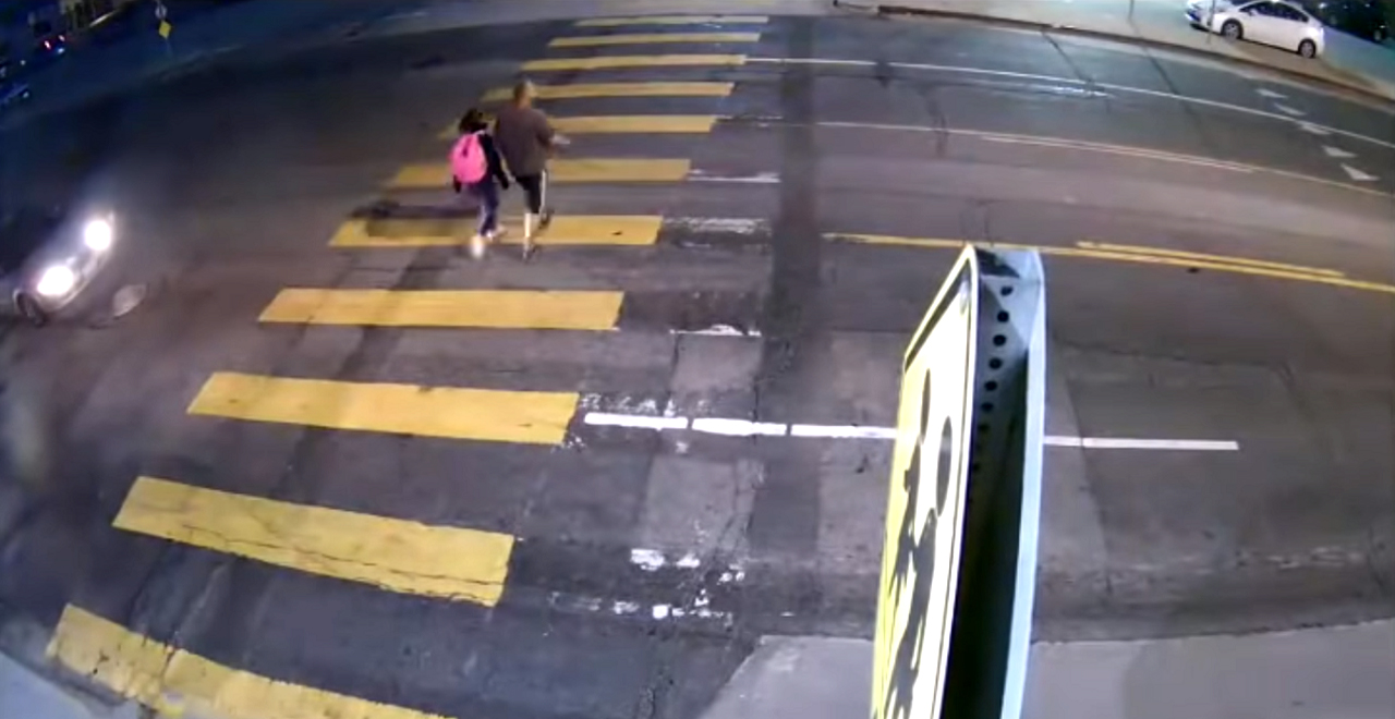 Hero Dad Pushes Daughter out of way