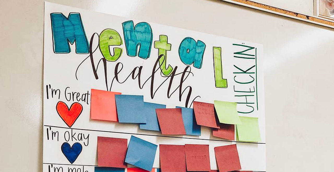 Post-Its With a Purpose: Teacher's Mental Health 'Check-in' Board Goes Viral
