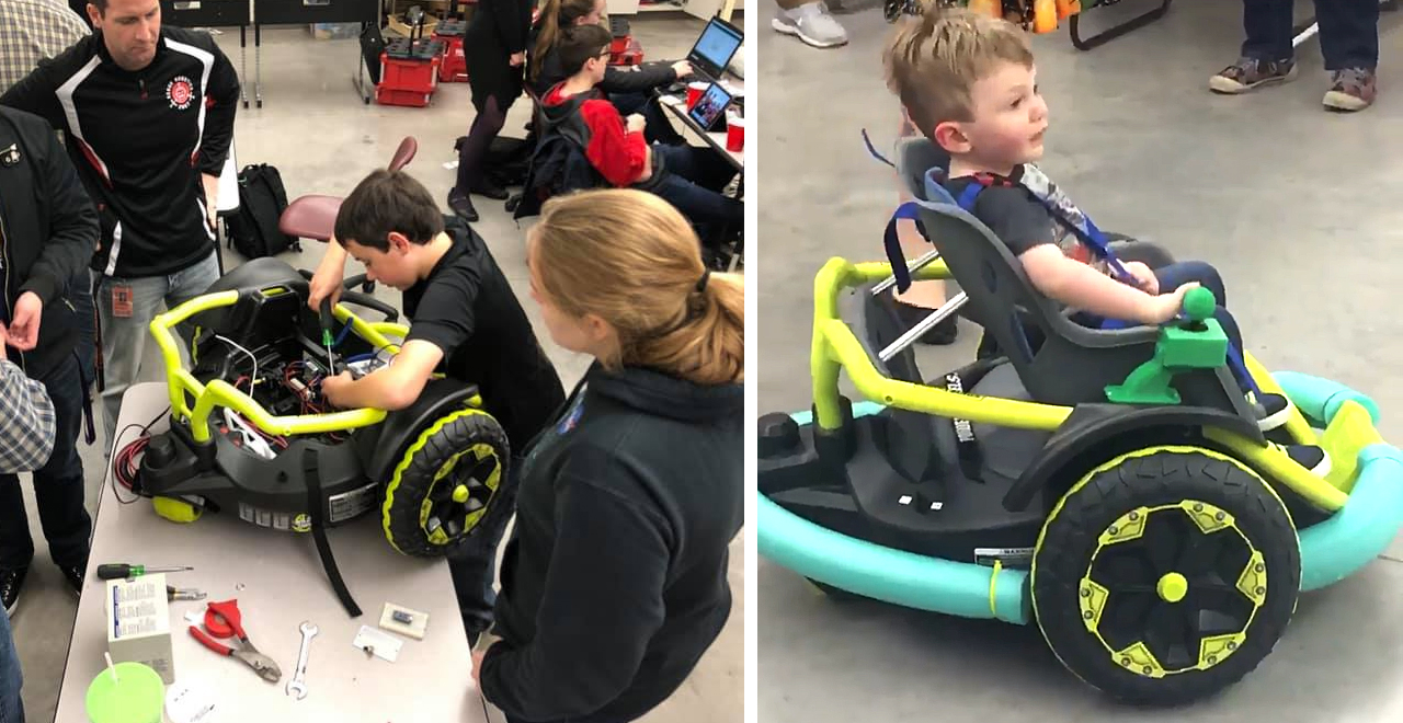 Robotics Team Builds Wheelchair for Todder