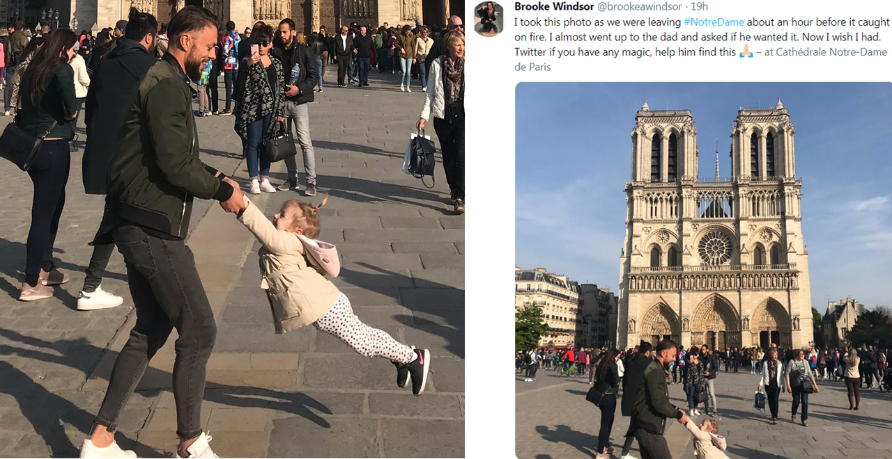 Twitter Searches for Dad in Notre Dame Photo