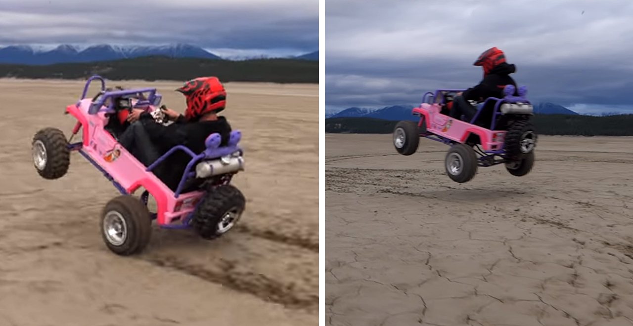 50 HP Engine in Barbie Jeep